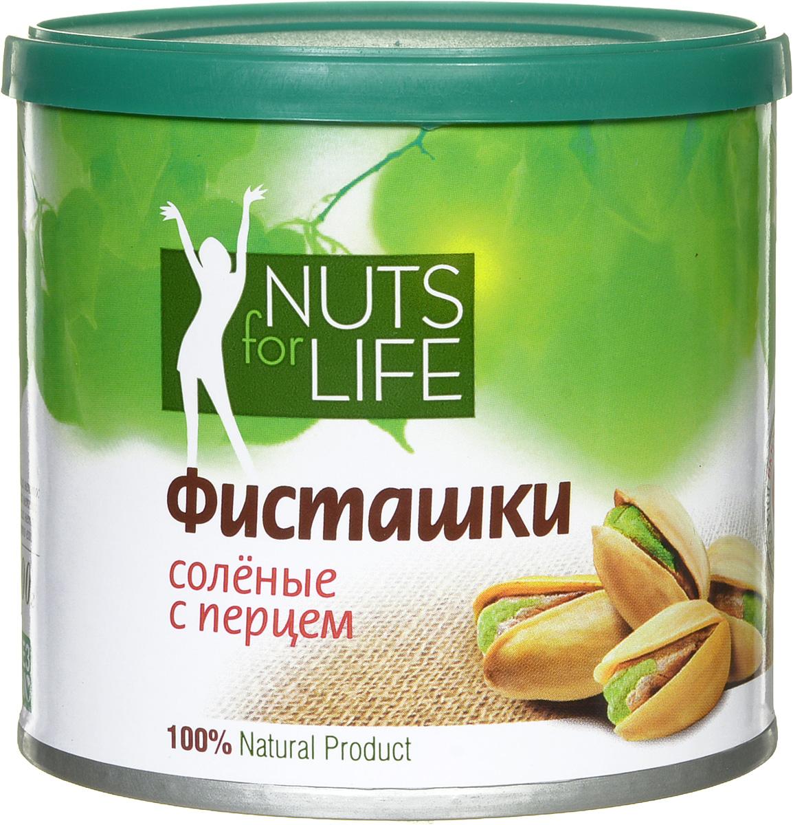 Nuts for Life Фисташка обжаренная соленая с перцем, 100 г