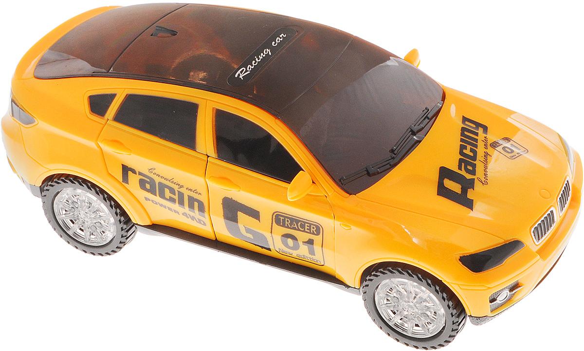 Shantou Машинка RacingK604-H01033Машинка Shantou Racing, выполненная из безопасного качественного пластика, станет любимой игрушкой вашего ребенка! При включении машинка начинает вращаться вокруг оси, дверцы машинки открываются и закрываются, колеса и крыша машинки светятся разноцветными огоньками, звучит музыка. Ваш ребенок часами будет играть с такой игрушкой, любуясь красивой 3D подсветкой. Для работы игрушки необходимы 3 батарейки типа АА напряжением 1,5V (не входят в комплект).