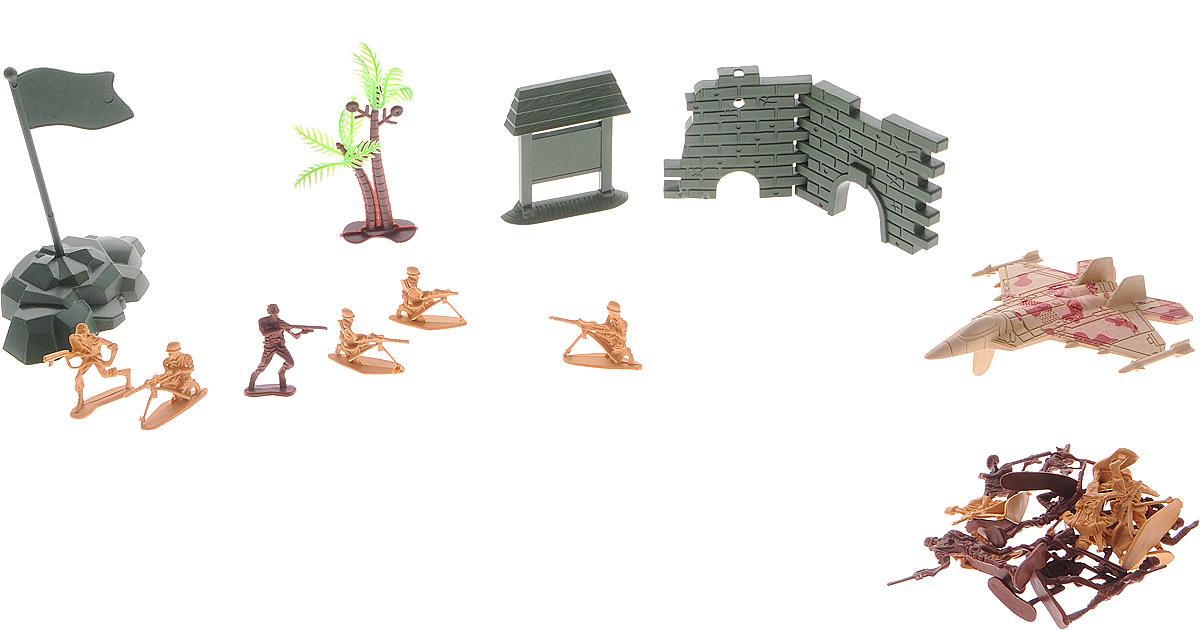 Shantou Игровой набор Military Super PowerB1391314Игровой набор Shantou Military Super Power содержит все необходимое для того, чтобы устроить настоящие стратегические сражения и продумать военную тактику. В набор входят фигурки солдатиков двух разных цветов (представителей разных воинствующих сторон); самолет, окрашенный в цвет песочного камуфляжа; военная техника и другие аксессуары. Игры с подобными наборами способствуют развитию воображения и стратегического мышления.