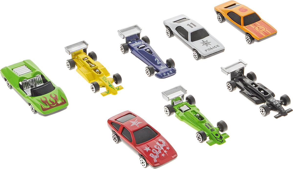 Shantou Набор машинок City Racer 8 шт G100-H36063G100-H36063Набор машинок Shantou City Racer понравится любому мальчику. В набор входит 8 спортивных и гоночных автомобилей. Каждая машинка уникальна как по форме, так и по раскраске. Эти гоночные автомобили сделаны из очень прочного металла, поэтому могут участвовать в самых отчаянных гонках без правил. Имея такой автопарк, можно устраивать соревнования и гонки с друзьями.