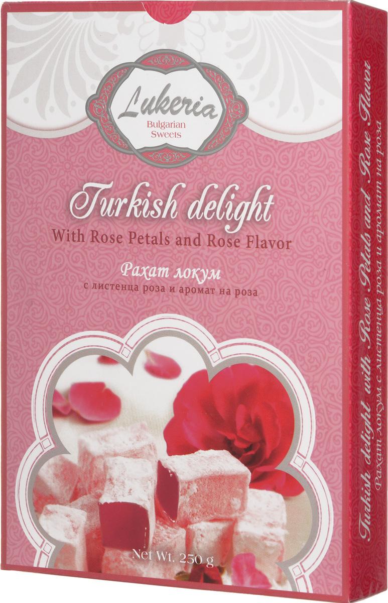 Lukeria Рахат-лукум с ароматом и лепестками розы, 250 г