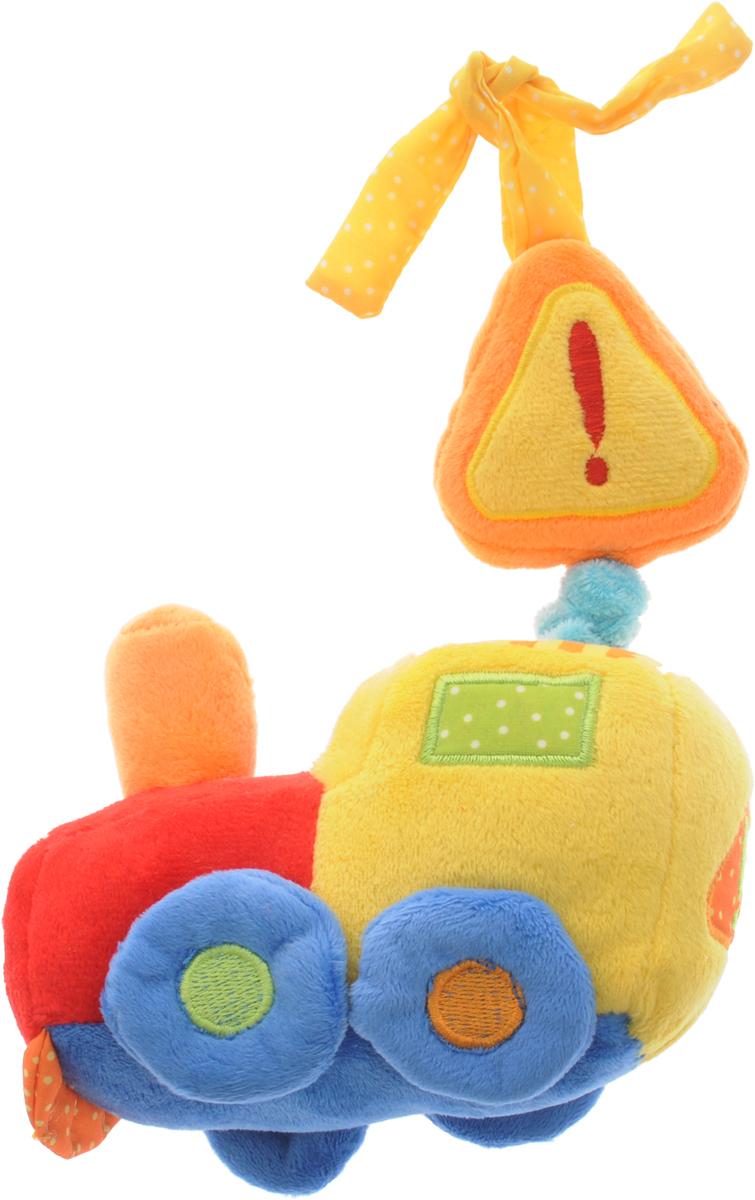 Жирафики Музыкальная игрушка-подвеска Грузовик93497Музыкальная игрушка-подвеска Жирафики Грузовик не оставит равнодушным ни одного малыша. Выполненная из качественных, приятных на ощупь материалов, игрушка доставит радость ребенку при игре с ней. Игрушка содержит внутри музыкальный механизм, который запускается при потягивании за верхнюю часть машинки. При этом звучит красивая колыбельная. Крепится подвеска к кроватке или коляске с помощью двух текстильных шнурков. Игрушка-подвеска развивает слуховое восприятие, моторику, зрительно-цветовое восприятие и обладает релаксирующим воздействием.