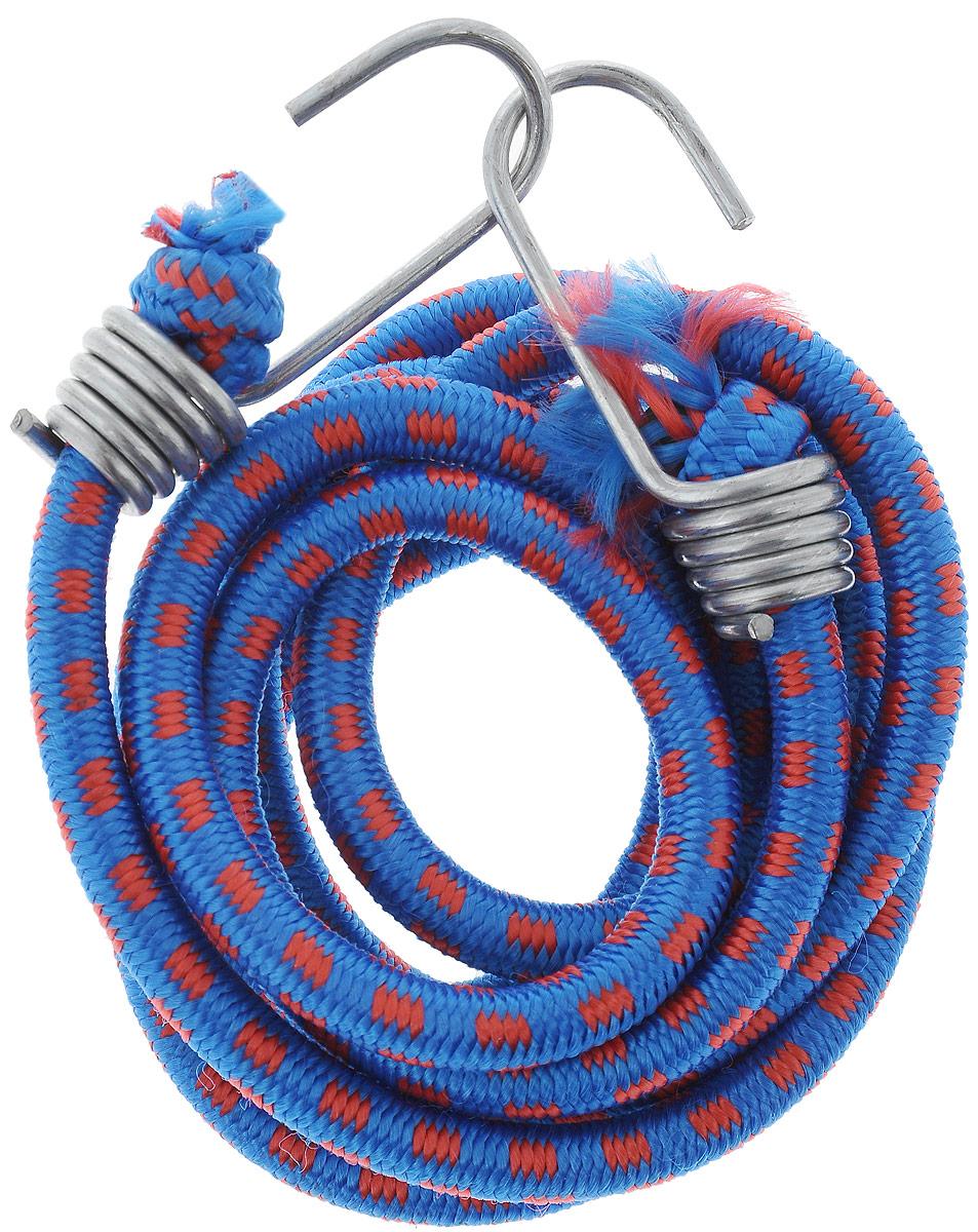 Резинка багажная МастерПроф, с крючками, цвет: синий, красный, 1 х 190 смАС.020027_синий,красныйБагажная резинка МастерПроф, выполненная из синтетического каучука, оснащена специальными металлическими крюками, которые обеспечивают прочное крепление и не допускают смещения груза во время его перевозки. Изделие применяется для закрепления предметов к багажнику. Такая резинка позволит зафиксировать как небольшой груз, так и довольно габаритный. Температура использования: -15°C до +50°C. Безопасное удлинение: 60%. Толщина резинки: 1 см. Длина резинки: 190 см.