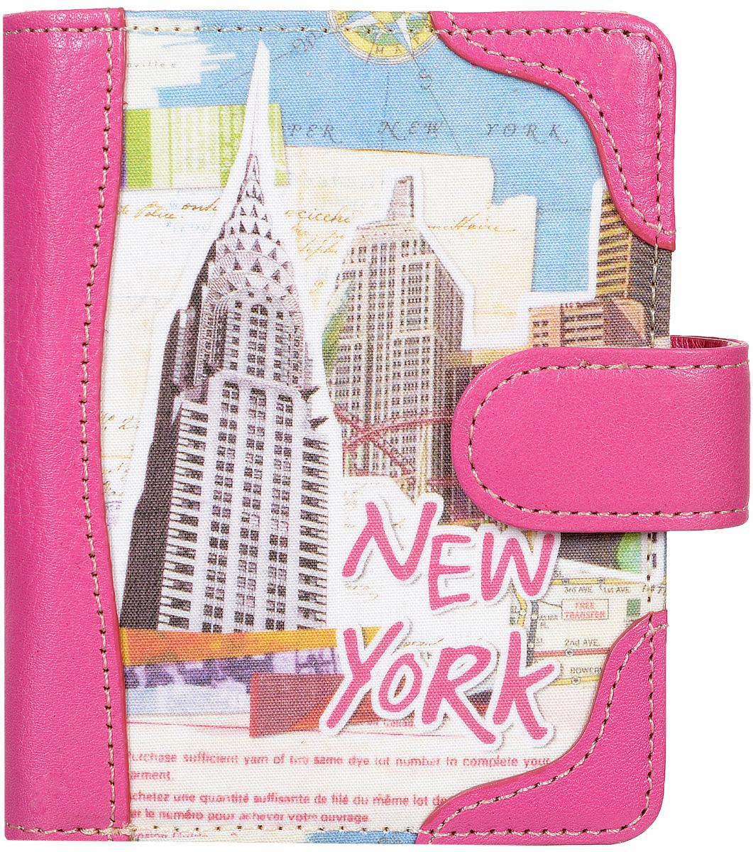"""Кошелек женский Kawaii Factory """"Нью Йорк"""", цвет: розовый. KW057-000452"""
