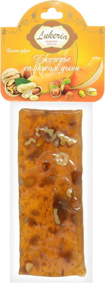 Lukeria Джезерье со вкусом дыни, 100 гR80553Джезерье - энергетически ценный продукт, обладающий помимо лечебных свойств также свойствами афродизиака. Джезерье содержит минералы, витамины А1, В1, В2, Е. И совсем не содержит холестерин (0%). Многие медики Турции отмечают, что польза джезерье заключается в благоприятном воздействии на зрение и сердце. Джезерье, являясь также очень питательным продуктом, несмотря на это относится к разряду диабетических. А наличие витаминов в его составе делает лакомство энергетически ценным и полезным.