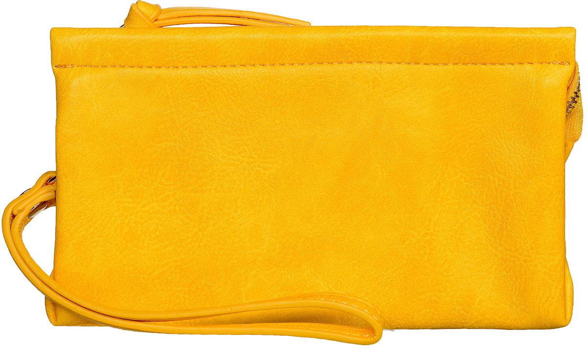 Кошелек женский Kawaii Factory, цвет: желтый. KW057-000100KW057-000100Яркий, сочный и очень свежий цвет этого кошелька от Kawaii Factory не оставит равнодушным ни одно девичье сердце! Кошелек сделан из качественного, мягкого, приятного на ощупь материала, внешне очень похожего на натуральную кожу. Внутри есть два больших отделения, 4 маленьких прорезных кармашка для пластиковых карт и визиток, а так же потайной карман на молнии. Благодаря съемному ремешку этот кошелек можно носить как сумочку-клатч. Оригинальный кошелек непременно подойдет к вашему образу и порадует простотой, стилем и функциональностью. Изделие упаковано в фирменную коробку с названием бренда.