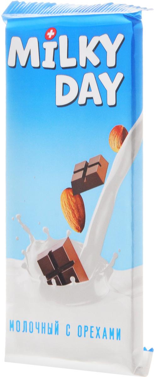 Milky Day кондитерская плитка молочная со злаками и орехами, 90 г