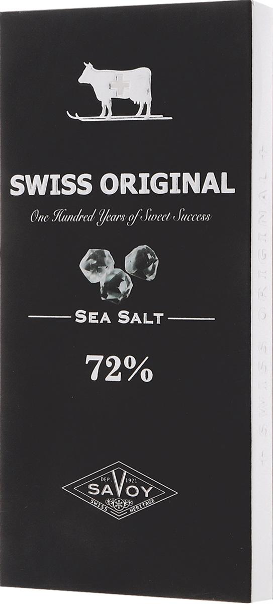Необычный пикантный вкус шоколаду Swiss Original, приготовленному из отборных какао-бобов с Берега Слоновой Кости, придают крупинки морской соли, привезенной с месторождения в Южной Америке.