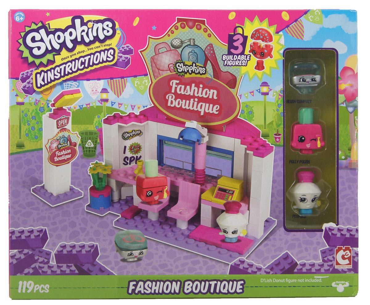 Shopkins Конструктор Салон красоты37328ast37326«Салон красоты» - средний по размеру сет из серии Shopkins Kinstructions. Линейка наборов, совместимых с большинством популярных конструкторов (таких, как, например, Лего) выпускается американским брендом The Bridge Direct по мотивам мультсериала «Shopkins». @# В коробке вы найдете детали салона красоты, включая элементы для сборки двух кресел, кассы, рабочей зоны с лампой, указателя и др. А, кроме того, в набор входят три разборные фигурки: лак Polly Polish из 1 сезона (отдел «Красота и здоровье») и еще два персонажа популярной серии коллекционных игрушек Shopkins. Каждая из фигурок разбирается на три части.@# Количество деталей в наборе: 119. В набор входят стикеры для украшения магазинчика.