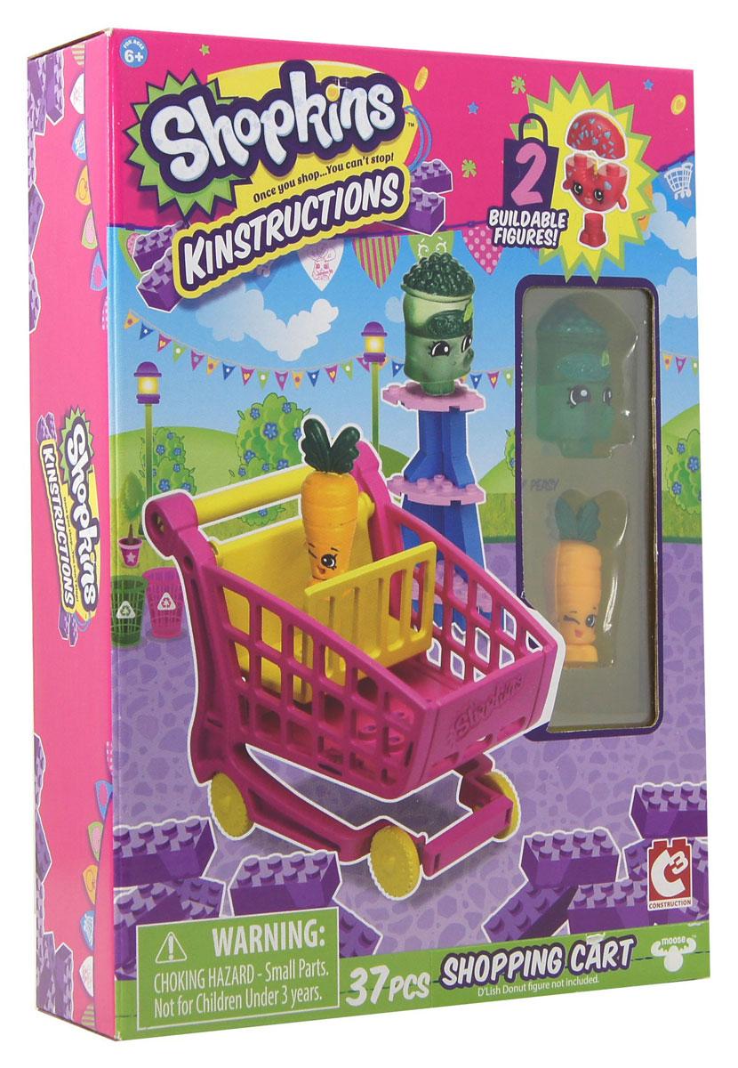 Shopkins Конструктор Магазин Freezy Peazy и Дикая Морковь37333ast37330Конструктор Shopkins Магазин Freezy Peazy и Дикая Морковь выпущен по мотивам любимого мультсериала о приключениях продуктов в супермаркете Шопвиля. Шопкинсы - это малыши-овощи и фрукты, которые любят ходить за покупками. Набор включает в себя 37 разноцветных пластиковых элементов. Также в наборе имеются 2 фигурки, они разбираются и состоят из трех частей. Конструктор - это один из самых увлекательных и веселых способов времяпрепровождения. Ребенок сможет часами играть с конструктором, придумывая различные ситуации и истории. Уникальность набора в том, что он, как и все остальные игрушки Shopkins превосходно сочетаются с элементами конструкторов от множества популярных брендов, среди которых и LEGO. В набор входят стикеры для украшения магазинчика.