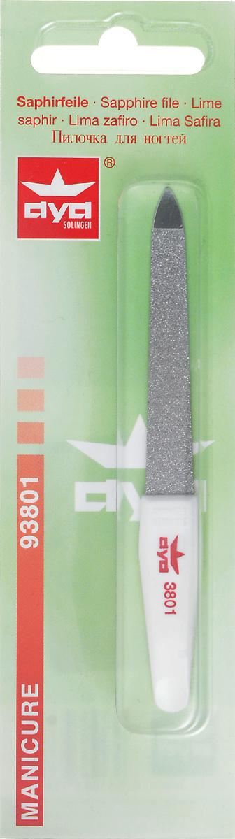 Becker-Manicure AYA Пилочка для ногтей 10см. 9380193801Пилочка двусторонняя, с одной стороны сапфировое напыление более крупное для придания ногтю формы, с другой более мелкое для завершения шлифовки ногтя. Длина пилочки 10 см Хранить в сухом недоступном для детей месте. Срок годности не ограничен. Замена изделия не осуществляется в следующих случаях: - Использование не по назначению - Самостоятельный ремонт - Нарушение условий хранения