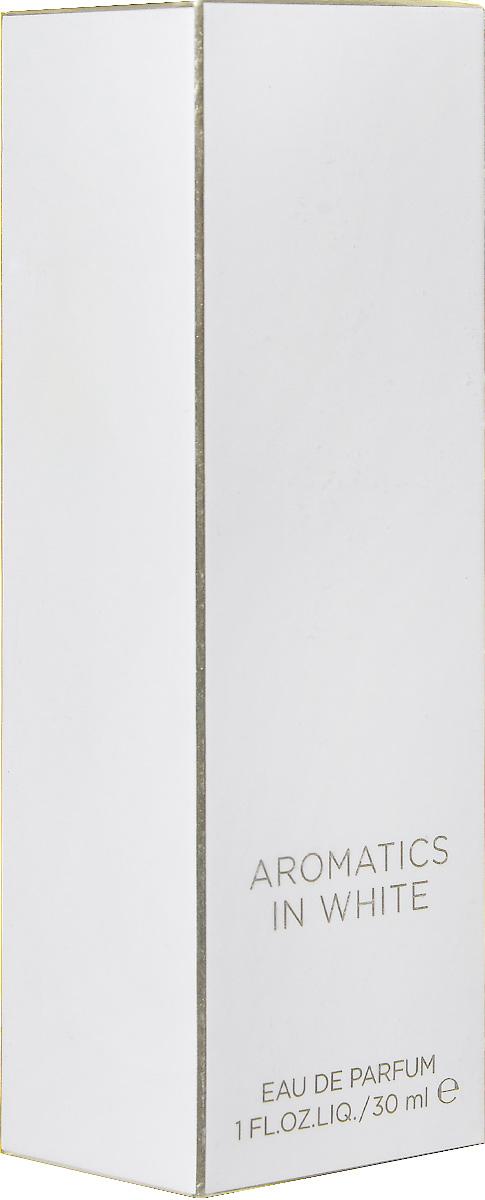 Clinique Aromatics in White Парфюмерная вода женская 30 млZ9F7010000Clinique Aromatics in White, созданный специально для женщины, которая хочет найти свой индивидуальный аромат, который позволит ей выделиться. Clinique Aromatics in White открывается смелой, бодрящей волной свежих фиалковых листьев в сочетании с амбровым аккордом ладанника и сычуаньского перца, которые мгновенно вовлекают вас в сердце аромата. Средние ноты аромата сосредоточены вокруг прозрачных розовых лепестков в сочетании с сочным цветком апельсина и насыщенным аккордом пачули, что создает гармоничное сочетание цветов, запахов и текстур. Базовые ноты передают загадочный, соблазнительный слой этого аромата с помощью серой амбры и кожного мускуса, а также обладающего притягательной силой бензоина. Эта комбинация создает чувственный, пьянящий шлейф с несомненным магнетизмом для женщины, которая предпочитает классический, но в то же время индивидуальный аромат.