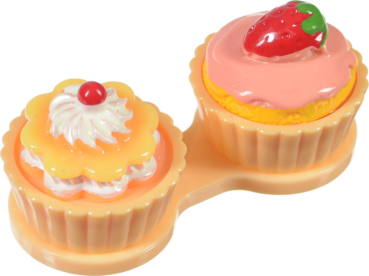 Контейнер для контактных линз Kawaii Factory Sweets, цвет: бежевый. KW007-000100KW007-000100Если вам очень хочется окружить себя яркими красивыми вещами, то контейнер для контактных линз Sweets от Kawaii Factory как ничто другое поможет справиться с этой задачей. Контейнер выглядит, как аппетитный десерт, и будет приносить радость и поднимать настроение. Корпус изделия выполнен из пластика, а плотно закручивающаяся верхняя часть предотвращает утечку раствора, находящегося внутри, и сохраняет линзы от высыхания. Контейнер надежно сбережет ваши линзы от неприятных повреждений.