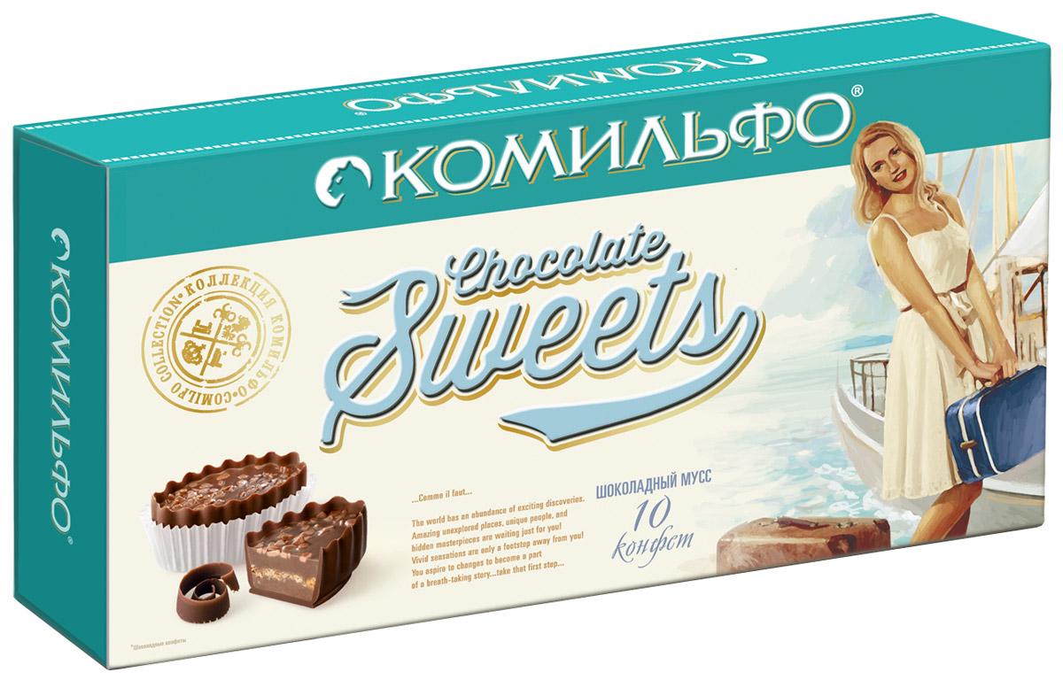 Комильфо шоколадные конфеты шоколадный мусс, 116 г