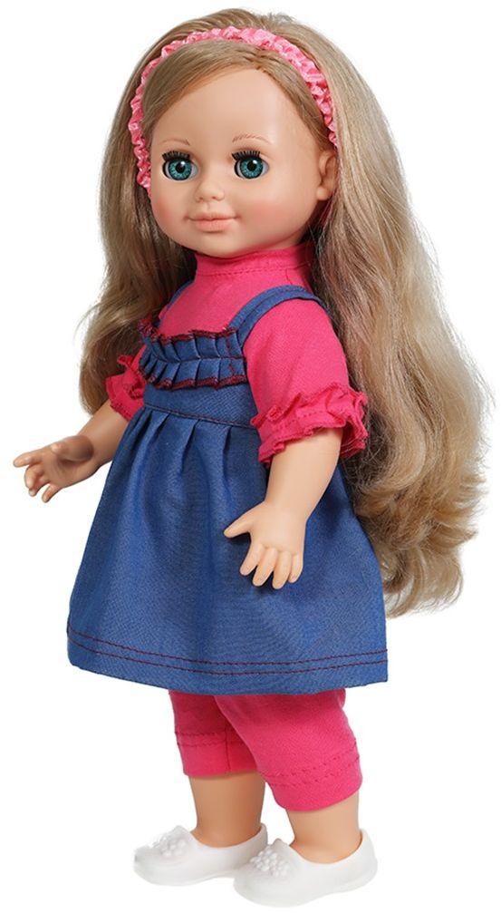 Весна Кукла Анна озвученнаяВ884/оУ очаровательной куклы Анны от фабрики Весна ясные голубые глаза и пышные светлые волосы. На ней надет прелестный летний наряд: розовые блузка и бриджи, джинсовый сарафанчик и белые туфельки. На голове у куклы - ободок из шёлка с эластичной тесьмой внутри. У Анны закрываются глазки, и она умеет разговаривать. При нажатии на звуковое устройство, вставленное в спинку, кукла произносит следующие фразы: - Привет! Давай потанцуем. - Я люблю музыку. - Возьми меня за ручки. - Покружись со мной. - Как здорово! - А сейчас спой мне песенку. - А другую песенку… - Мне очень нравится. Очаровательная кукла Весна покорит сердце любой девочки! Обаятельный внешний вид и прелестные одежки игрушечных красавиц вызывают только самые добрые и положительные эмоции. Куклы производятся на российских фабриках из нетоксичных, безопасных для детей материалов. Они отличаются высоким качеством, проработанностью деталей и гармоничными пропорциями тела. Голова и ручки...