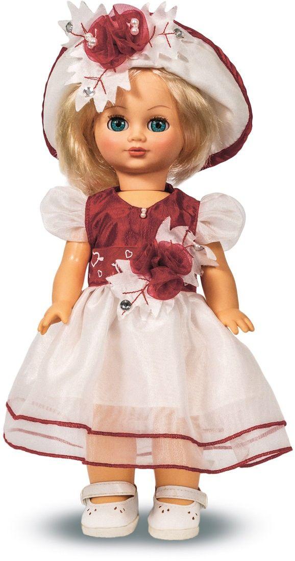 Весна Кукла Элла озвученнаяВ2014/оУ красавицы-куклы Эллы от фабрики Весна голубые глазки и прекрасные золотистые локоны. Она одета в нарядное белое платье с цветами, шляпку и белые туфельки. иУ Эллы закрываются глазки, и она умеет разговаривать. При нажатии на звуковое устройство, вставленное в спинку, кукла произносит следующие фразы: -Теперь ты моя подруга. -Ты не забыла - сегодня мы идем на праздник. -Нам нужно быть красивыми. -Сделай мне прическу! -Получилось очень красиво! -Теперь себе. -Не забудь про маникюр. -А нарядное платье? -Мы сегодня самые красивые! Очаровательная кукла Весна покорит сердце любой девочки! Обаятельный внешний вид и прелестные одежки игрушечных красавиц вызывают только самые добрые и положительные эмоции. Куклы производятся на российских фабриках из нетоксичных, безопасных для детей материалов. Они отличаются высоким качеством, проработанностью деталей и гармоничными пропорциями тела. Голова и ручки кукол изготовлены из эластичного винила,...