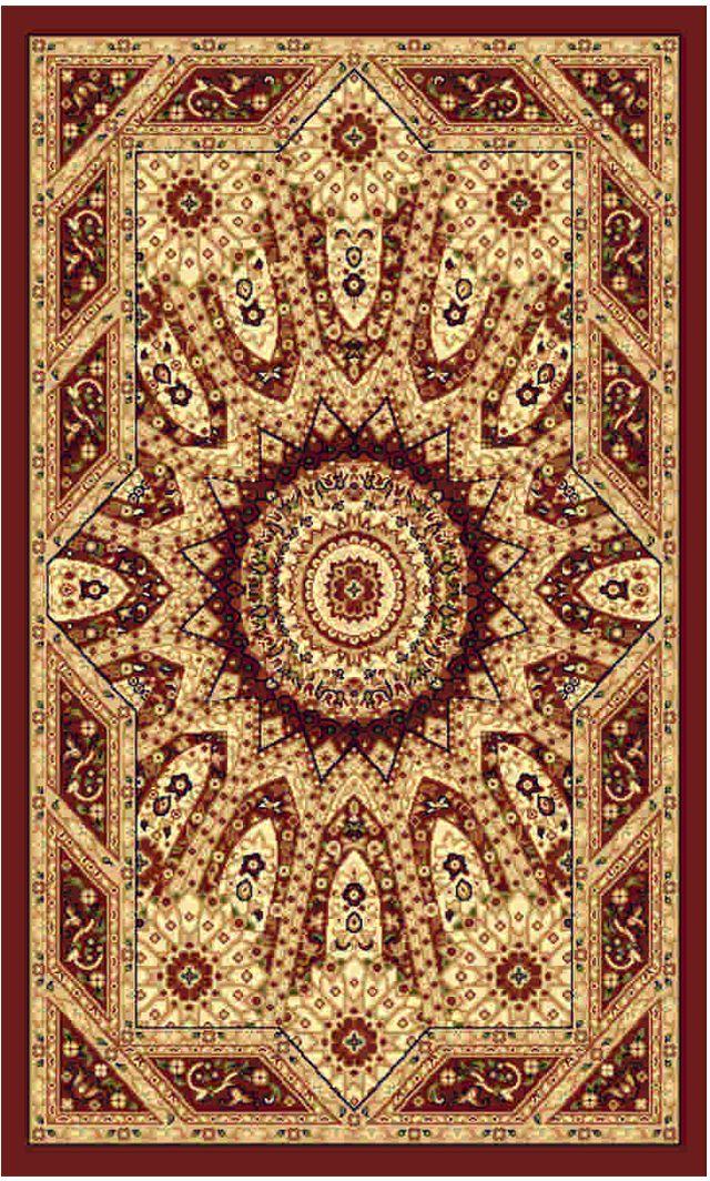 Ковер Kamalak tekstil, прямоугольный, цвет: бордовый , 80 x 150 см. УК-0244УК-0244Ковры-паласы выполнены из полипропилена. Ковры обладают хорошими показателями теплостойкости и шумоизоляции. Являются гиппоалергенными. За счет невысокого ворса ковры легко чистить. Вам придется по душе широкая гамма цветов и возможность гармонично оформить интерьер. Практичный и устойчивый к износу ворс - от постоянного хождения не истирается, не накапливает статическое электричество. Структура волокна в полипропиленовых моделях гладкая, поэтому грязь не может выесться, на ворсе она скапливается с трудом. Полипропилен не впитывает влагу, отталкивает водянистые пятна. Уход: Самый простой способ избавить изделие от грязи – пропылесосить его с обеих сторон (лицевой и изнаночной). Влажная уборка с применением шампуней и моющих средств не противопоказана. Если шерсти и шёлку универсальные чистящие составы не подходят, то для синтетики они придутся в самый раз. Хранить их нужно рулоном, не складывая «салфеткой». При надлежащем уходе синтетический ковёр прослужит долго, не утратив ни...
