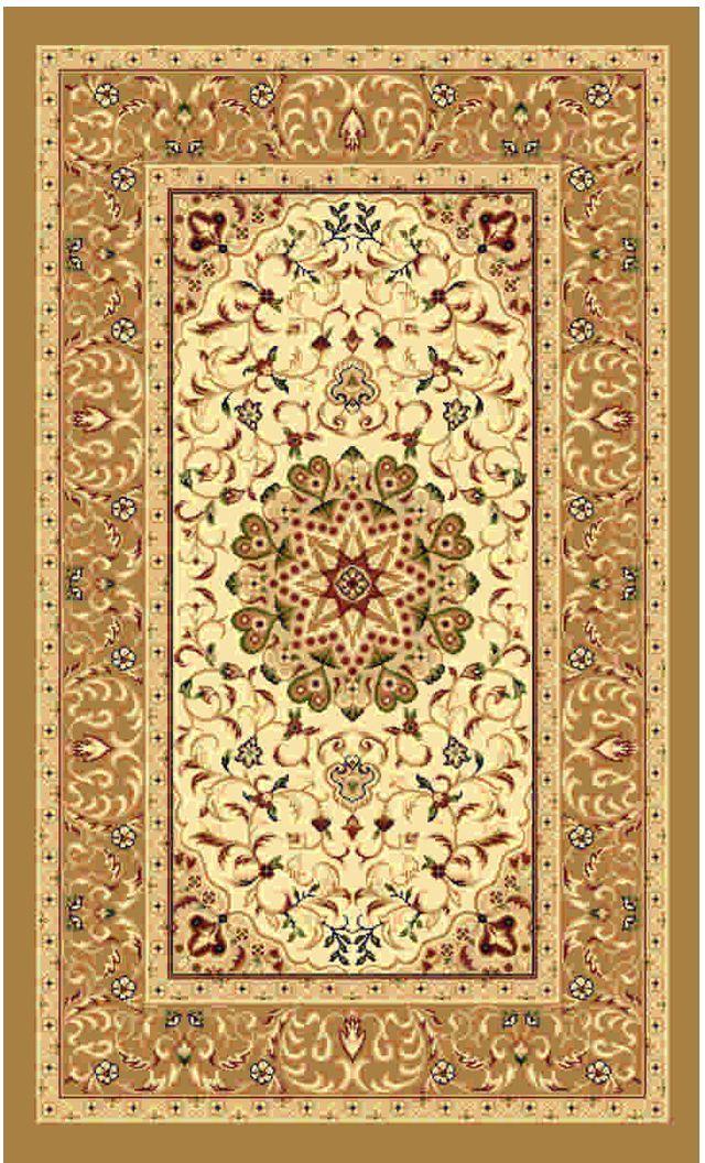 """Ковер """"Kamalak tekstil"""", прямоугольный, цвет: кремовый, 50 x 100 см. УК-0510"""