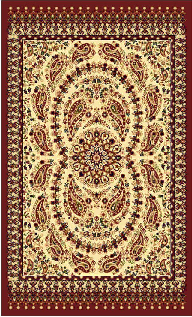Ковер Kamalak tekstil, прямоугольный, цвет: кремовый, 100 x 150 см. УК-0185УК-0185Ковры-паласы выполнены из полипропилена. Ковры обладают хорошими показателями теплостойкости и шумоизоляции. Являются гиппоалергенными. За счет невысокого ворса ковры легко чистить. Вам придется по душе широкая гамма цветов и возможность гармонично оформить интерьер. Практичный и устойчивый к износу ворс - от постоянного хождения не истирается, не накапливает статическое электричество. Структура волокна в полипропиленовых моделях гладкая, поэтому грязь не может выесться, на ворсе она скапливается с трудом. Полипропилен не впитывает влагу, отталкивает водянистые пятна. Уход: Самый простой способ избавить изделие от грязи – пропылесосить его с обеих сторон (лицевой и изнаночной). Влажная уборка с применением шампуней и моющих средств не противопоказана. Если шерсти и шёлку универсальные чистящие составы не подходят, то для синтетики они придутся в самый раз. Хранить их нужно рулоном, не складывая «салфеткой». При надлежащем уходе синтетический ковёр прослужит долго, не утратив ни...