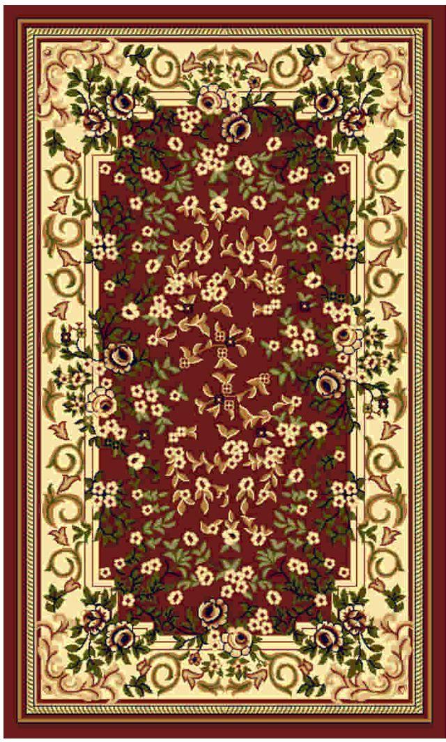 Ковер Kamalak tekstil, прямоугольный, цвет: кремовый, 100 x 150 см. УК-0131УК-0131Ковры-паласы выполнены из полипропилена. Ковры обладают хорошими показателями теплостойкости и шумоизоляции. Являются гиппоалергенными. За счет невысокого ворса ковры легко чистить. Вам придется по душе широкая гамма цветов и возможность гармонично оформить интерьер. Практичный и устойчивый к износу ворс - от постоянного хождения не истирается, не накапливает статическое электричество. Структура волокна в полипропиленовых моделях гладкая, поэтому грязь не может выесться, на ворсе она скапливается с трудом. Полипропилен не впитывает влагу, отталкивает водянистые пятна. Уход: Самый простой способ избавить изделие от грязи – пропылесосить его с обеих сторон (лицевой и изнаночной). Влажная уборка с применением шампуней и моющих средств не противопоказана. Если шерсти и шёлку универсальные чистящие составы не подходят, то для синтетики они придутся в самый раз. Хранить их нужно рулоном, не складывая «салфеткой». При надлежащем уходе синтетический ковёр прослужит долго, не утратив ни...