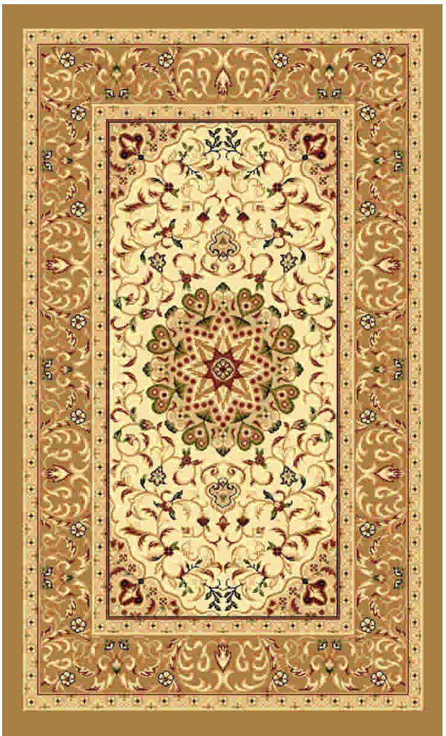 Ковер Kamalak tekstil, прямоугольный, цвет: кремовый, 80 x 150 см. УК-0381УК-0381Ковры-паласы выполнены из полипропилена. Ковры обладают хорошими показателями теплостойкости и шумоизоляции. Являются гиппоалергенными. За счет невысокого ворса ковры легко чистить. Вам придется по душе широкая гамма цветов и возможность гармонично оформить интерьер. Практичный и устойчивый к износу ворс - от постоянного хождения не истирается, не накапливает статическое электричество. Структура волокна в полипропиленовых моделях гладкая, поэтому грязь не может выесться, на ворсе она скапливается с трудом. Полипропилен не впитывает влагу, отталкивает водянистые пятна. Уход: Самый простой способ избавить изделие от грязи – пропылесосить его с обеих сторон (лицевой и изнаночной). Влажная уборка с применением шампуней и моющих средств не противопоказана. Если шерсти и шёлку универсальные чистящие составы не подходят, то для синтетики они придутся в самый раз. Хранить их нужно рулоном, не складывая «салфеткой». При надлежащем уходе синтетический ковёр прослужит долго, не утратив ни...