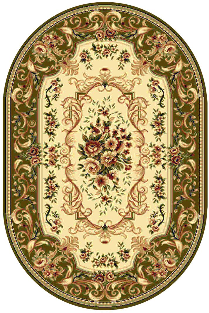 Ковер Kamalak tekstil, овальный, цвет: кремовый, 100 x 150 см. УК-0357УК-0357Ковры-паласы выполнены из полипропилена. Ковры обладают хорошими показателями теплостойкости и шумоизоляции. Являются гиппоалергенными. За счет невысокого ворса ковры легко чистить. Вам придется по душе широкая гамма цветов и возможность гармонично оформить интерьер. Практичный и устойчивый к износу ворс - от постоянного хождения не истирается, не накапливает статическое электричество. Структура волокна в полипропиленовых моделях гладкая, поэтому грязь не может выесться, на ворсе она скапливается с трудом. Полипропилен не впитывает влагу, отталкивает водянистые пятна. Уход: Самый простой способ избавить изделие от грязи – пропылесосить его с обеих сторон (лицевой и изнаночной). Влажная уборка с применением шампуней и моющих средств не противопоказана. Если шерсти и шёлку универсальные чистящие составы не подходят, то для синтетики они придутся в самый раз. Хранить их нужно рулоном, не складывая «салфеткой». При надлежащем уходе синтетический ковёр прослужит долго, не утратив ни...