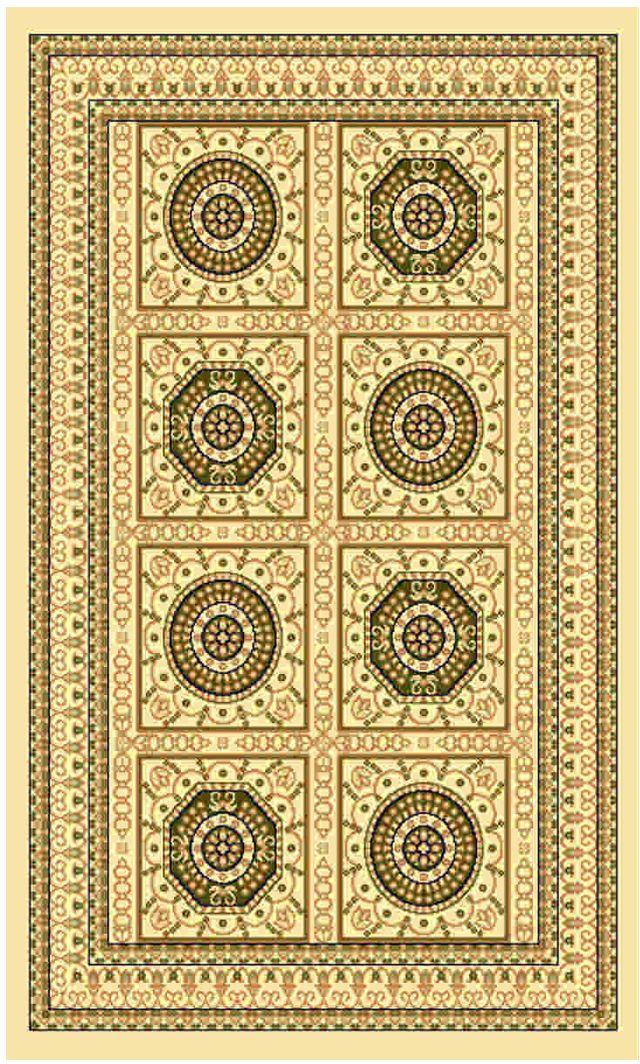 Ковер Kamalak tekstil, прямоугольный, цвет: кремовый, 60 x 110 см. УК-0028УК-0028Ковры-паласы выполнены из полипропилена. Ковры обладают хорошими показателями теплостойкости и шумоизоляции. Являются гиппоалергенными. За счет невысокого ворса ковры легко чистить. Вам придется по душе широкая гамма цветов и возможность гармонично оформить интерьер. Практичный и устойчивый к износу ворс - от постоянного хождения не истирается, не накапливает статическое электричество. Структура волокна в полипропиленовых моделях гладкая, поэтому грязь не может выесться, на ворсе она скапливается с трудом. Полипропилен не впитывает влагу, отталкивает водянистые пятна. Уход: Самый простой способ избавить изделие от грязи – пропылесосить его с обеих сторон (лицевой и изнаночной). Влажная уборка с применением шампуней и моющих средств не противопоказана. Если шерсти и шёлку универсальные чистящие составы не подходят, то для синтетики они придутся в самый раз. Хранить их нужно рулоном, не складывая «салфеткой». При надлежащем уходе синтетический ковёр прослужит долго, не утратив ни...