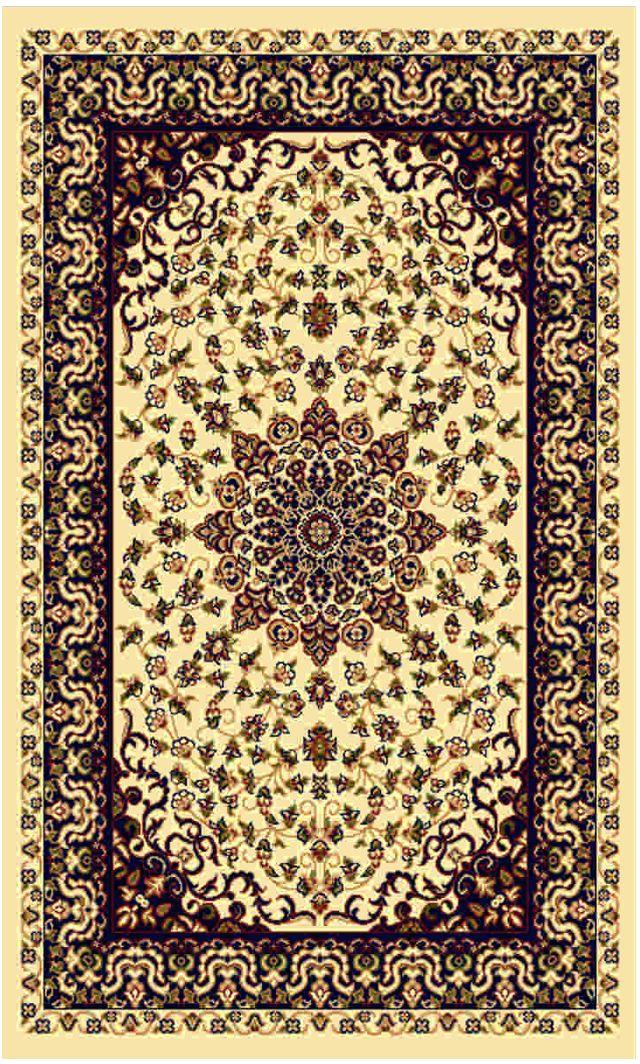 Ковер Kamalak tekstil, прямоугольный, цвет: кремовый, 100 x 150 см. УК-0191УК-0191Ковры-паласы выполнены из полипропилена. Ковры обладают хорошими показателями теплостойкости и шумоизоляции. Являются гиппоалергенными. За счет невысокого ворса ковры легко чистить. Вам придется по душе широкая гамма цветов и возможность гармонично оформить интерьер. Практичный и устойчивый к износу ворс - от постоянного хождения не истирается, не накапливает статическое электричество. Структура волокна в полипропиленовых моделях гладкая, поэтому грязь не может выесться, на ворсе она скапливается с трудом. Полипропилен не впитывает влагу, отталкивает водянистые пятна. Уход: Самый простой способ избавить изделие от грязи – пропылесосить его с обеих сторон (лицевой и изнаночной). Влажная уборка с применением шампуней и моющих средств не противопоказана. Если шерсти и шёлку универсальные чистящие составы не подходят, то для синтетики они придутся в самый раз. Хранить их нужно рулоном, не складывая «салфеткой». При надлежащем уходе синтетический ковёр прослужит долго, не утратив ни...