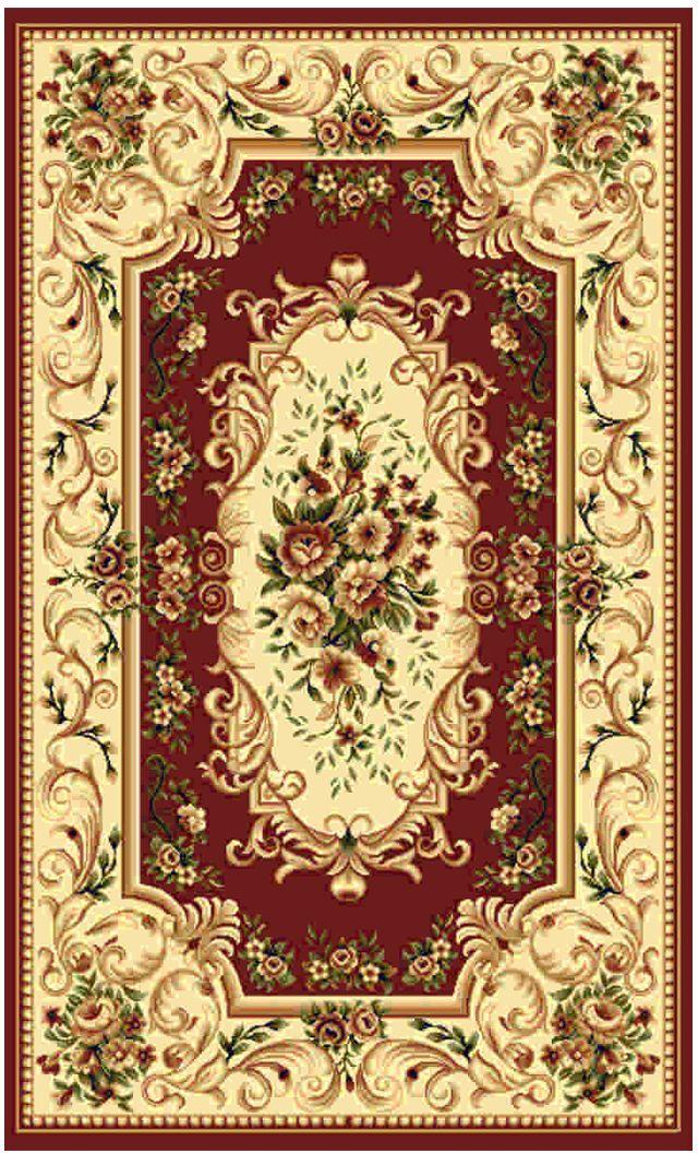 """Ковер """"Kamalak tekstil"""", прямоугольный, цвет: бордовый, 100 x 150 см. УК-0367"""