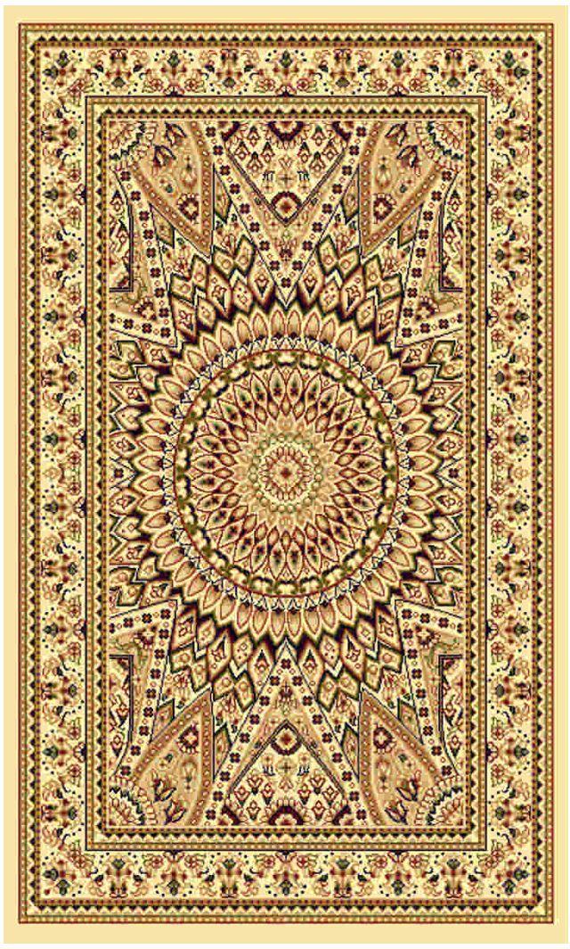 """Ковер """"Kamalak tekstil"""", прямоугольный, цвет: кремовый, 50 x 100 см. УК-0486"""