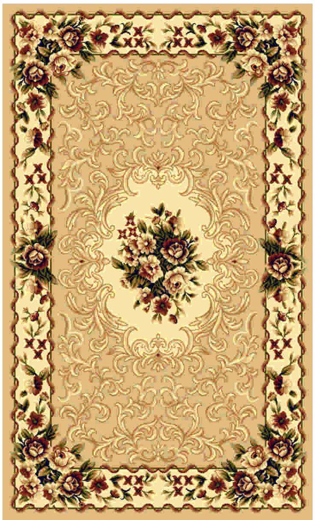 """Ковер """"Kamalak tekstil"""", прямоугольный, цвет: кремовый, 80 x 150 см. УК-0014"""