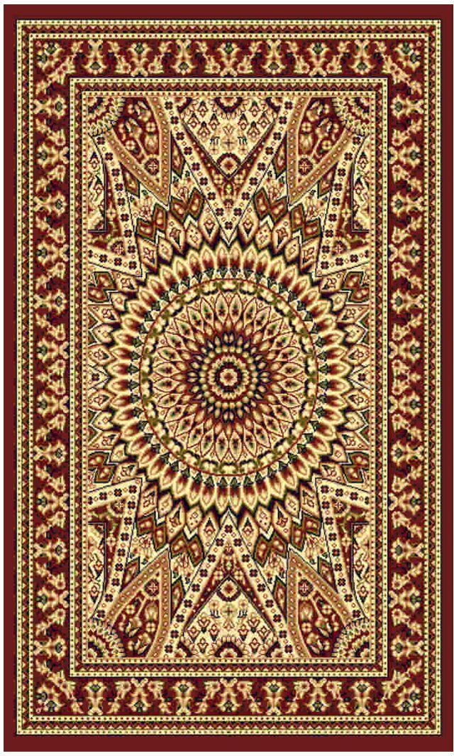 """Ковер """"Kamalak tekstil"""", прямоугольный, цвет: кремовый, 100 x 150 см. УК-0425"""
