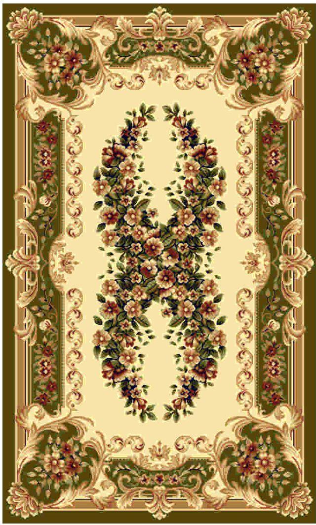 """Ковер """"Kamalak tekstil"""", прямоугольный, цвет: кремовый, 100 x 150 см. УК-0021"""