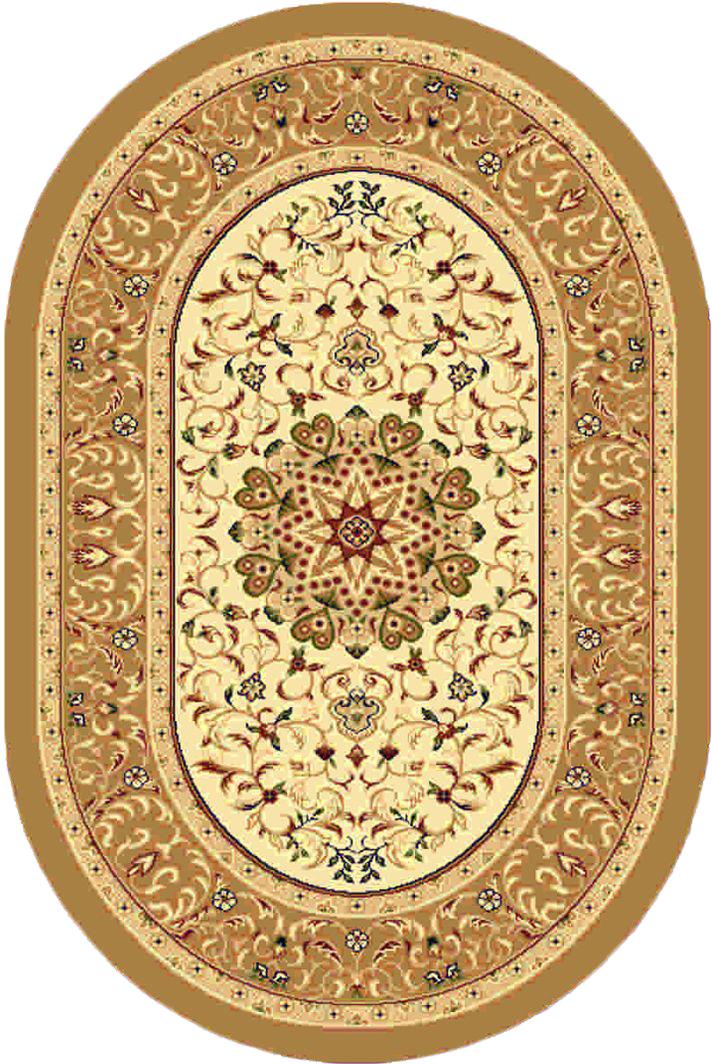 """Ковер """"Kamalak tekstil"""", овальный, цвет: кремовый, 100 x 150 см. УК-0380"""
