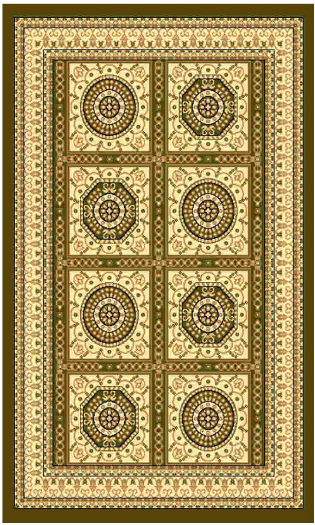 """Ковер """"Kamalak tekstil"""", прямоугольный, цвет: зеленый, 100 x 150 см. УК-0029"""
