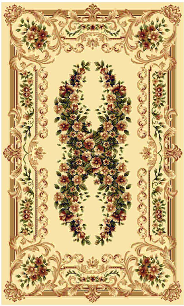 """Ковер """"Kamalak tekstil"""", прямоугольный, цвет: кремовый, 80 x 150 см. УК-0016"""