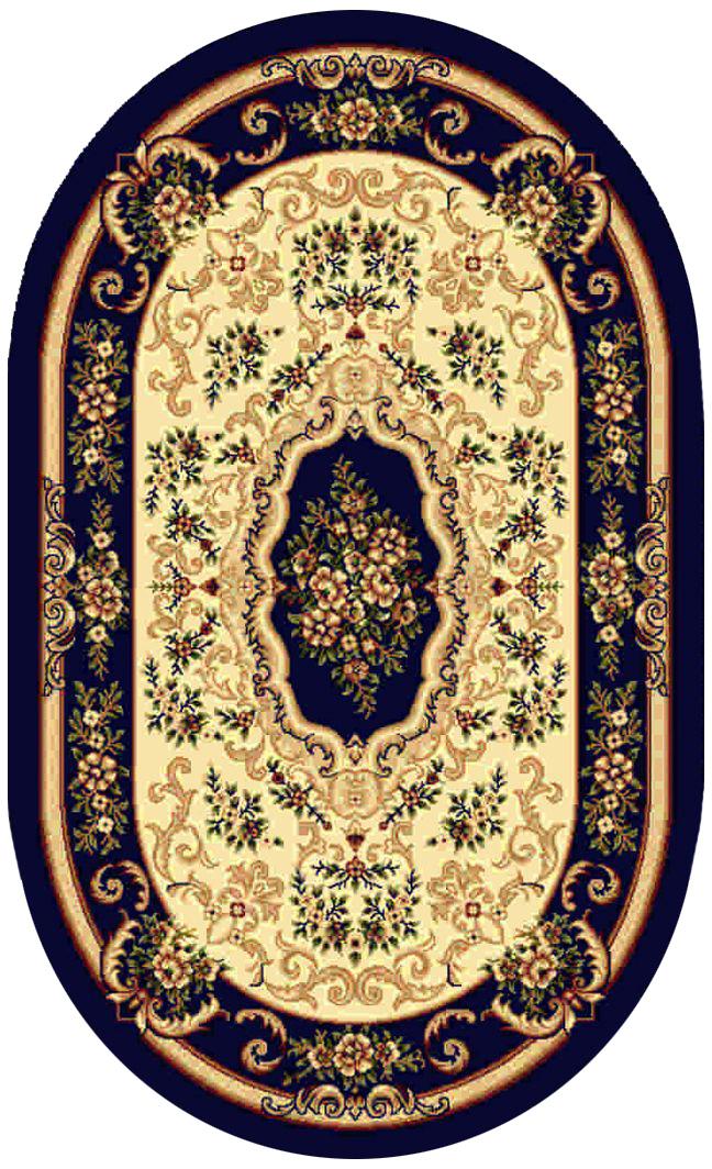 Ковер Kamalak tekstil, овальный, цвет: кремовый, 100 x 150 см. УК-0096УК-0096Ковры-паласы выполнены из полипропилена. Ковры обладают хорошими показателями теплостойкости и шумоизоляции. Являются гиппоалергенными. За счет невысокого ворса ковры легко чистить. Вам придется по душе широкая гамма цветов и возможность гармонично оформить интерьер. Практичный и устойчивый к износу ворс - от постоянного хождения не истирается, не накапливает статическое электричество. Структура волокна в полипропиленовых моделях гладкая, поэтому грязь не может выесться, на ворсе она скапливается с трудом. Полипропилен не впитывает влагу, отталкивает водянистые пятна. Уход: Самый простой способ избавить изделие от грязи – пропылесосить его с обеих сторон (лицевой и изнаночной). Влажная уборка с применением шампуней и моющих средств не противопоказана. Если шерсти и шёлку универсальные чистящие составы не подходят, то для синтетики они придутся в самый раз. Хранить их нужно рулоном, не складывая «салфеткой». При надлежащем уходе синтетический ковёр прослужит долго, не утратив ни...