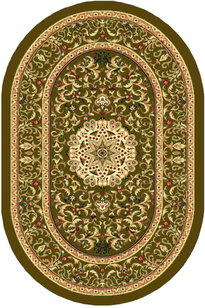 Ковер Kamalak tekstil, овальный, 100 x 150 см. УК-0385УК-0385Ковер Kamalak Tekstil изготовлен из прочного синтетического материала heat-set, улучшенного варианта полипропилена (эта нить получается в результате его дополнительной обработки). Полипропилен износостоек, нетоксичен, не впитывает влагу, не провоцирует аллергию. Структура волокна в полипропиленовых коврах гладкая, поэтому грязь не будет въедаться и скапливаться на ворсе. Практичный и износоустойчивый ворс не истирается и не накапливает статическое электричество. Ковер обладает хорошими показателями теплостойкости и шумоизоляции. Оригинальный рисунок позволит гармонично оформить интерьер комнаты, гостиной или прихожей. За счет невысокого ворса ковер легко чистить. При надлежащем уходе синтетический ковер прослужит долго, не утратив ни яркости узора, ни блеска ворса, ни упругости. Самый простой способ избавить изделие от грязи - пропылесосить его с обеих сторон (лицевой и изнаночной). Влажная уборка с применением шампуней и моющих средств не противопоказана. ...