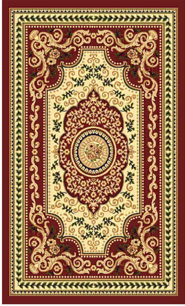 Ковер Kamalak tekstil, прямоугольный, цвет: кремовый, 50 x 100 см. УК-0517УК-0517Ковры-паласы выполнены из полипропилена. Ковры обладают хорошими показателями теплостойкости и шумоизоляции. Являются гиппоалергенными. За счет невысокого ворса ковры легко чистить. Вам придется по душе широкая гамма цветов и возможность гармонично оформить интерьер. Практичный и устойчивый к износу ворс - от постоянного хождения не истирается, не накапливает статическое электричество. Структура волокна в полипропиленовых моделях гладкая, поэтому грязь не может выесться, на ворсе она скапливается с трудом. Полипропилен не впитывает влагу, отталкивает водянистые пятна. Уход: Самый простой способ избавить изделие от грязи – пропылесосить его с обеих сторон (лицевой и изнаночной). Влажная уборка с применением шампуней и моющих средств не противопоказана. Если шерсти и шёлку универсальные чистящие составы не подходят, то для синтетики они придутся в самый раз. Хранить их нужно рулоном, не складывая «салфеткой». При надлежащем уходе синтетический ковёр прослужит долго, не утратив ни...