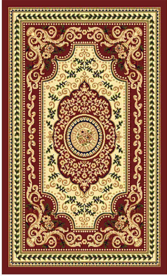 Ковер Kamalak tekstil, прямоугольный, цвет: кремовый, 60 x 110 см. УК-0416УК-0416Ковры-паласы выполнены из полипропилена. Ковры обладают хорошими показателями теплостойкости и шумоизоляции. Являются гиппоалергенными. За счет невысокого ворса ковры легко чистить. Вам придется по душе широкая гамма цветов и возможность гармонично оформить интерьер. Практичный и устойчивый к износу ворс - от постоянного хождения не истирается, не накапливает статическое электричество. Структура волокна в полипропиленовых моделях гладкая, поэтому грязь не может выесться, на ворсе она скапливается с трудом. Полипропилен не впитывает влагу, отталкивает водянистые пятна. Уход: Самый простой способ избавить изделие от грязи – пропылесосить его с обеих сторон (лицевой и изнаночной). Влажная уборка с применением шампуней и моющих средств не противопоказана. Если шерсти и шёлку универсальные чистящие составы не подходят, то для синтетики они придутся в самый раз. Хранить их нужно рулоном, не складывая «салфеткой». При надлежащем уходе синтетический ковёр прослужит долго, не утратив ни...
