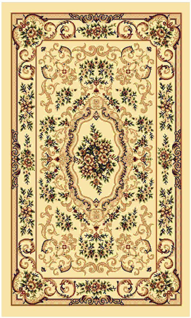 Ковер Kamalak tekstil, прямоугольный, цвет: кремовый, 60 x 110 см. УК-0105УК-0105Ковры-паласы выполнены из полипропилена. Ковры обладают хорошими показателями теплостойкости и шумоизоляции. Являются гиппоалергенными. За счет невысокого ворса ковры легко чистить. Вам придется по душе широкая гамма цветов и возможность гармонично оформить интерьер. Практичный и устойчивый к износу ворс - от постоянного хождения не истирается, не накапливает статическое электричество. Структура волокна в полипропиленовых моделях гладкая, поэтому грязь не может выесться, на ворсе она скапливается с трудом. Полипропилен не впитывает влагу, отталкивает водянистые пятна. Уход: Самый простой способ избавить изделие от грязи – пропылесосить его с обеих сторон (лицевой и изнаночной). Влажная уборка с применением шампуней и моющих средств не противопоказана. Если шерсти и шёлку универсальные чистящие составы не подходят, то для синтетики они придутся в самый раз. Хранить их нужно рулоном, не складывая «салфеткой». При надлежащем уходе синтетический ковёр прослужит долго, не утратив ни...