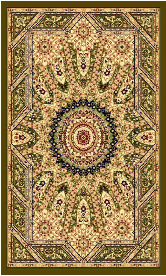 Ковер Kamalak tekstil, прямоугольный, цвет: зеленый, 100 x 150 см. УК-0236УК-0236Ковры-паласы выполнены из полипропилена. Ковры обладают хорошими показателями теплостойкости и шумоизоляции. Являются гиппоалергенными. За счет невысокого ворса ковры легко чистить. Вам придется по душе широкая гамма цветов и возможность гармонично оформить интерьер. Практичный и устойчивый к износу ворс - от постоянного хождения не истирается, не накапливает статическое электричество. Структура волокна в полипропиленовых моделях гладкая, поэтому грязь не может выесться, на ворсе она скапливается с трудом. Полипропилен не впитывает влагу, отталкивает водянистые пятна. Уход: Самый простой способ избавить изделие от грязи – пропылесосить его с обеих сторон (лицевой и изнаночной). Влажная уборка с применением шампуней и моющих средств не противопоказана. Если шерсти и шёлку универсальные чистящие составы не подходят, то для синтетики они придутся в самый раз. Хранить их нужно рулоном, не складывая «салфеткой». При надлежащем уходе синтетический ковёр прослужит долго, не утратив ни...