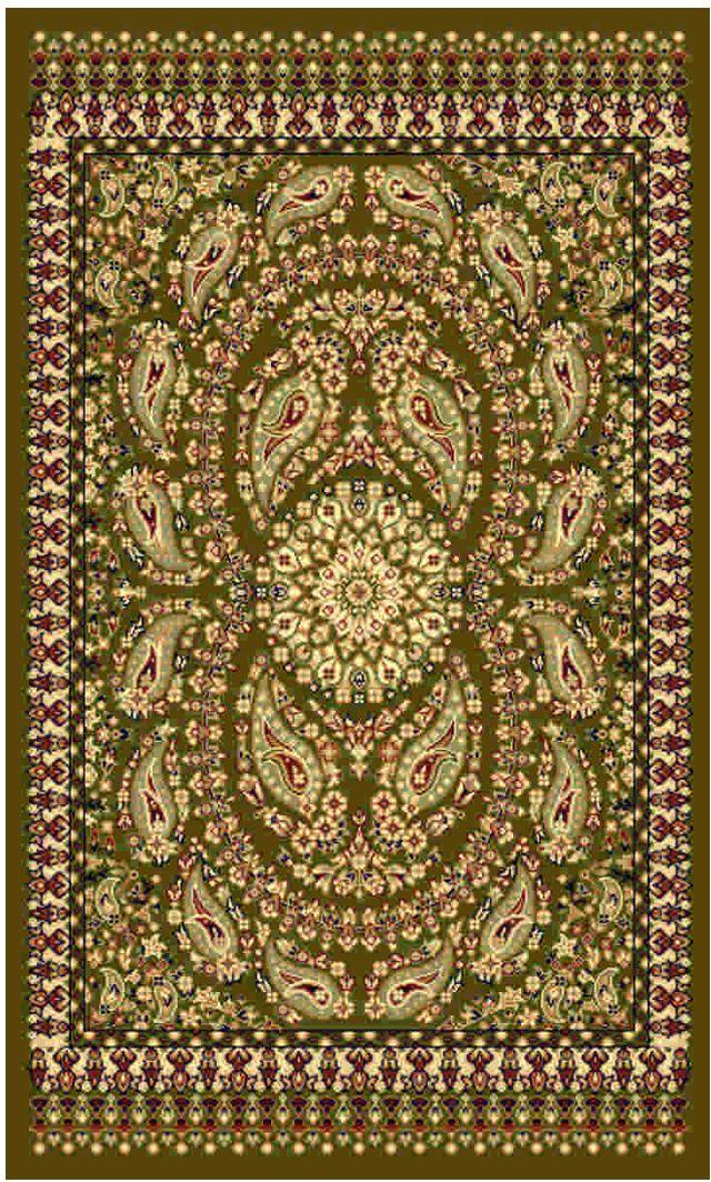 Ковер Kamalak tekstil, прямоугольный, цвет: зеленый, 100 x 150 см. УК-0179УК-0179Ковры-паласы выполнены из полипропилена. Ковры обладают хорошими показателями теплостойкости и шумоизоляции. Являются гиппоалергенными. За счет невысокого ворса ковры легко чистить. Вам придется по душе широкая гамма цветов и возможность гармонично оформить интерьер. Практичный и устойчивый к износу ворс - от постоянного хождения не истирается, не накапливает статическое электричество. Структура волокна в полипропиленовых моделях гладкая, поэтому грязь не может выесться, на ворсе она скапливается с трудом. Полипропилен не впитывает влагу, отталкивает водянистые пятна. Уход: Самый простой способ избавить изделие от грязи – пропылесосить его с обеих сторон (лицевой и изнаночной). Влажная уборка с применением шампуней и моющих средств не противопоказана. Если шерсти и шёлку универсальные чистящие составы не подходят, то для синтетики они придутся в самый раз. Хранить их нужно рулоном, не складывая «салфеткой». При надлежащем уходе синтетический ковёр прослужит долго, не утратив ни...