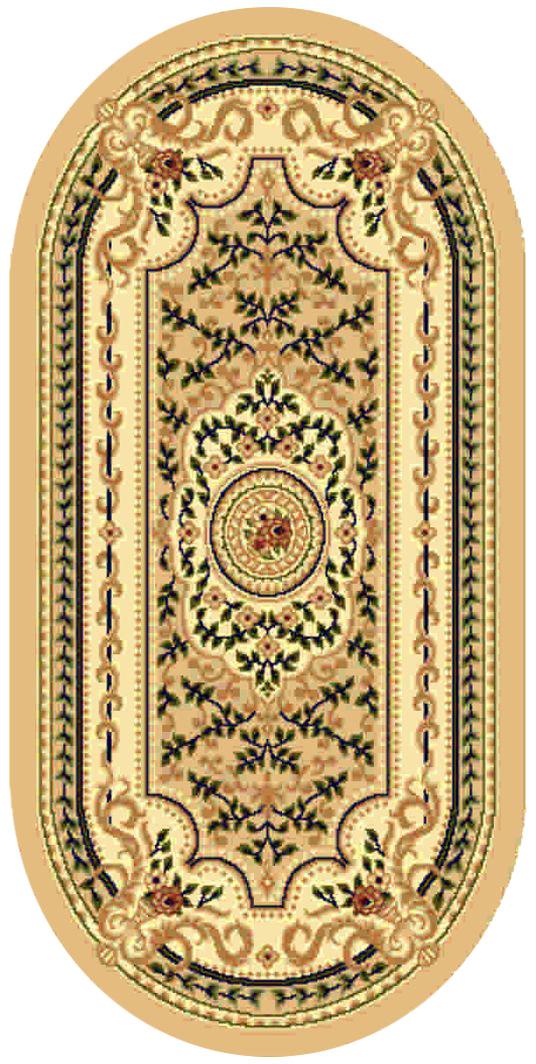 Ковер Kamalak tekstil, овальный, 80 x 150 см. УК-0397УК-0397Ковер Kamalak Tekstil изготовлен из прочного синтетического материала heat-set, улучшенного варианта полипропилена (эта нить получается в результате его дополнительной обработки). Полипропилен износостоек, нетоксичен, не впитывает влагу, не провоцирует аллергию. Структура волокна в полипропиленовых коврах гладкая, поэтому грязь не будет въедаться и скапливаться на ворсе. Практичный и износоустойчивый ворс не истирается и не накапливает статическое электричество. Ковер обладает хорошими показателями теплостойкости и шумоизоляции. Оригинальный рисунок позволит гармонично оформить интерьер комнаты, гостиной или прихожей. За счет невысокого ворса ковер легко чистить. При надлежащем уходе синтетический ковер прослужит долго, не утратив ни яркости узора, ни блеска ворса, ни упругости. Самый простой способ избавить изделие от грязи - пропылесосить его с обеих сторон (лицевой и изнаночной). Влажная уборка с применением шампуней и моющих средств не противопоказана. ...
