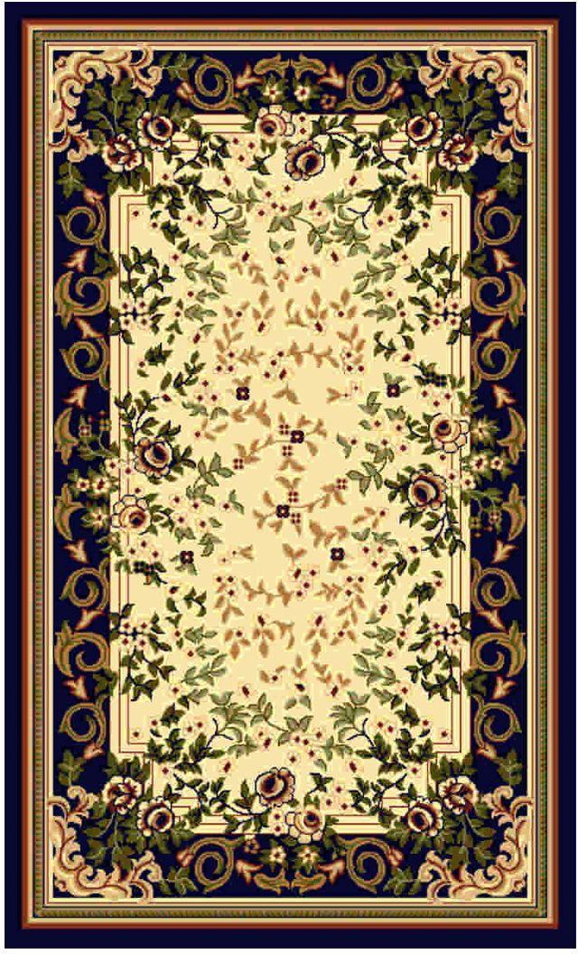 """Ковер """"Kamalak tekstil"""", прямоугольный, цвет: кремовый, 80 x 150 см. УК-0115"""