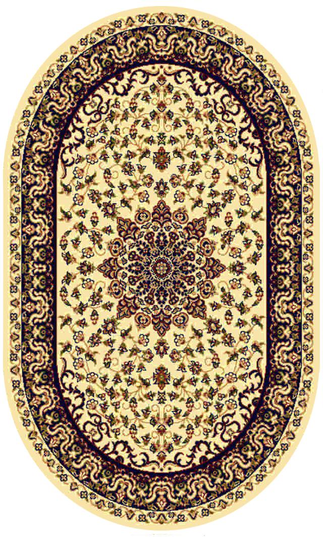 Ковер Kamalak tekstil, овальный, 100 x 150 см. УК-0192УК-0192Ковер Kamalak Tekstil изготовлен из прочного синтетического материала heat-set, улучшенного варианта полипропилена (эта нить получается в результате его дополнительной обработки). Полипропилен износостоек, нетоксичен, не впитывает влагу, не провоцирует аллергию. Структура волокна в полипропиленовых коврах гладкая, поэтому грязь не будет въедаться и скапливаться на ворсе. Практичный и износоустойчивый ворс не истирается и не накапливает статическое электричество. Ковер обладает хорошими показателями теплостойкости и шумоизоляции. Оригинальный рисунок позволит гармонично оформить интерьер комнаты, гостиной или прихожей. За счет невысокого ворса ковер легко чистить. При надлежащем уходе синтетический ковер прослужит долго, не утратив ни яркости узора, ни блеска ворса, ни упругости. Самый простой способ избавить изделие от грязи - пропылесосить его с обеих сторон (лицевой и изнаночной). Влажная уборка с применением шампуней и моющих средств не противопоказана. ...