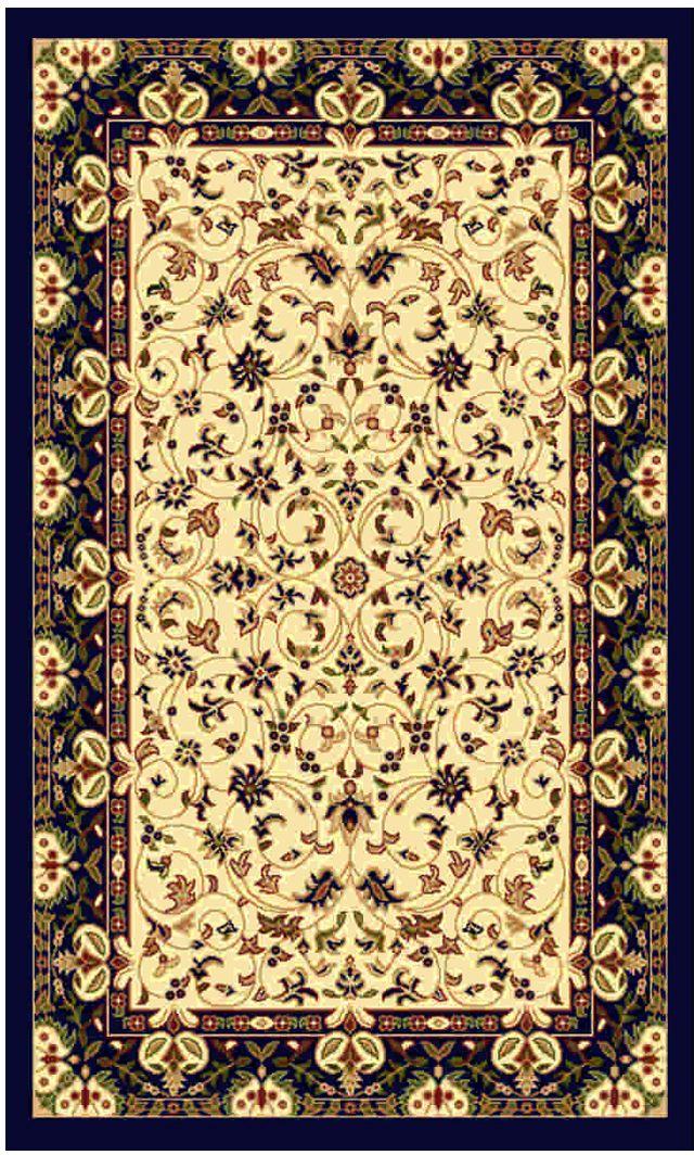 Ковер Kamalak tekstil, прямоугольный, цвет: кремовый, 100 x 150 см. УК-0137УК-0137Ковры-паласы выполнены из полипропилена. Ковры обладают хорошими показателями теплостойкости и шумоизоляции. Являются гиппоалергенными. За счет невысокого ворса ковры легко чистить. Вам придется по душе широкая гамма цветов и возможность гармонично оформить интерьер. Практичный и устойчивый к износу ворс - от постоянного хождения не истирается, не накапливает статическое электричество. Структура волокна в полипропиленовых моделях гладкая, поэтому грязь не может выесться, на ворсе она скапливается с трудом. Полипропилен не впитывает влагу, отталкивает водянистые пятна. Уход: Самый простой способ избавить изделие от грязи – пропылесосить его с обеих сторон (лицевой и изнаночной). Влажная уборка с применением шампуней и моющих средств не противопоказана. Если шерсти и шёлку универсальные чистящие составы не подходят, то для синтетики они придутся в самый раз. Хранить их нужно рулоном, не складывая «салфеткой». При надлежащем уходе синтетический ковёр прослужит долго, не утратив ни...