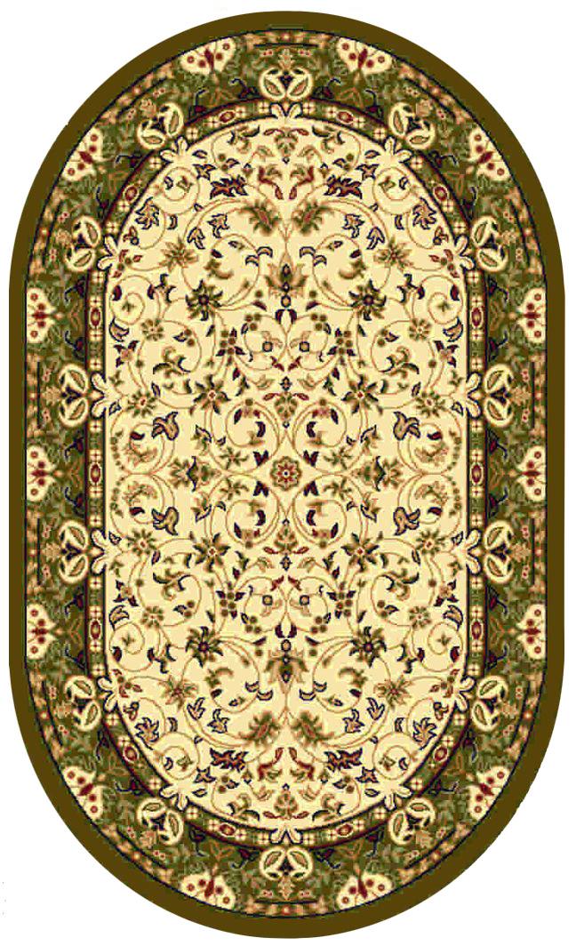 Ковер Kamalak tekstil, овальный, цвет: кремовый, 80 x 150 см. УК-0146УК-0146Ковры-паласы выполнены из полипропилена. Ковры обладают хорошими показателями теплостойкости и шумоизоляции. Являются гиппоалергенными. За счет невысокого ворса ковры легко чистить. Вам придется по душе широкая гамма цветов и возможность гармонично оформить интерьер. Практичный и устойчивый к износу ворс - от постоянного хождения не истирается, не накапливает статическое электричество. Структура волокна в полипропиленовых моделях гладкая, поэтому грязь не может выесться, на ворсе она скапливается с трудом. Полипропилен не впитывает влагу, отталкивает водянистые пятна. Уход: Самый простой способ избавить изделие от грязи – пропылесосить его с обеих сторон (лицевой и изнаночной). Влажная уборка с применением шампуней и моющих средств не противопоказана. Если шерсти и шёлку универсальные чистящие составы не подходят, то для синтетики они придутся в самый раз. Хранить их нужно рулоном, не складывая «салфеткой». При надлежащем уходе синтетический ковёр прослужит долго, не утратив ни...