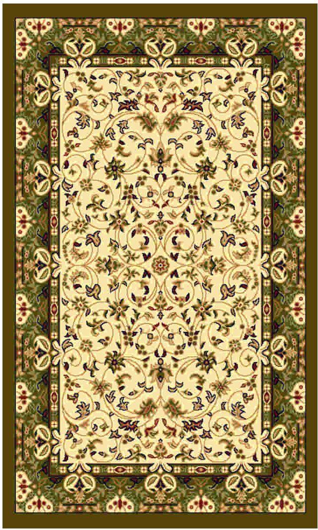 Ковер Kamalak tekstil, прямоугольный, цвет: кремовый, 100 x 150 см. УК-0143УК-0143Ковры-паласы выполнены из полипропилена. Ковры обладают хорошими показателями теплостойкости и шумоизоляции. Являются гиппоалергенными. За счет невысокого ворса ковры легко чистить. Вам придется по душе широкая гамма цветов и возможность гармонично оформить интерьер. Практичный и устойчивый к износу ворс - от постоянного хождения не истирается, не накапливает статическое электричество. Структура волокна в полипропиленовых моделях гладкая, поэтому грязь не может выесться, на ворсе она скапливается с трудом. Полипропилен не впитывает влагу, отталкивает водянистые пятна. Уход: Самый простой способ избавить изделие от грязи – пропылесосить его с обеих сторон (лицевой и изнаночной). Влажная уборка с применением шампуней и моющих средств не противопоказана. Если шерсти и шёлку универсальные чистящие составы не подходят, то для синтетики они придутся в самый раз. Хранить их нужно рулоном, не складывая «салфеткой». При надлежащем уходе синтетический ковёр прослужит долго, не утратив ни...
