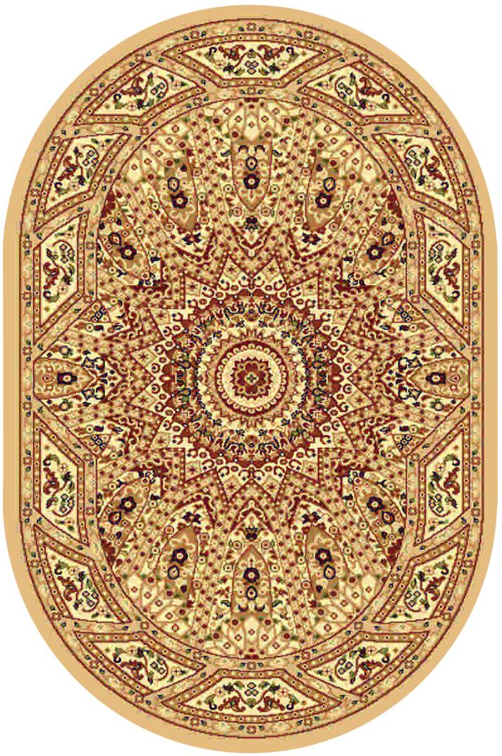 """Ковер """"Kamalak tekstil"""", овальный, цвет: бежевый, 100 x 150 см. УК-0231"""